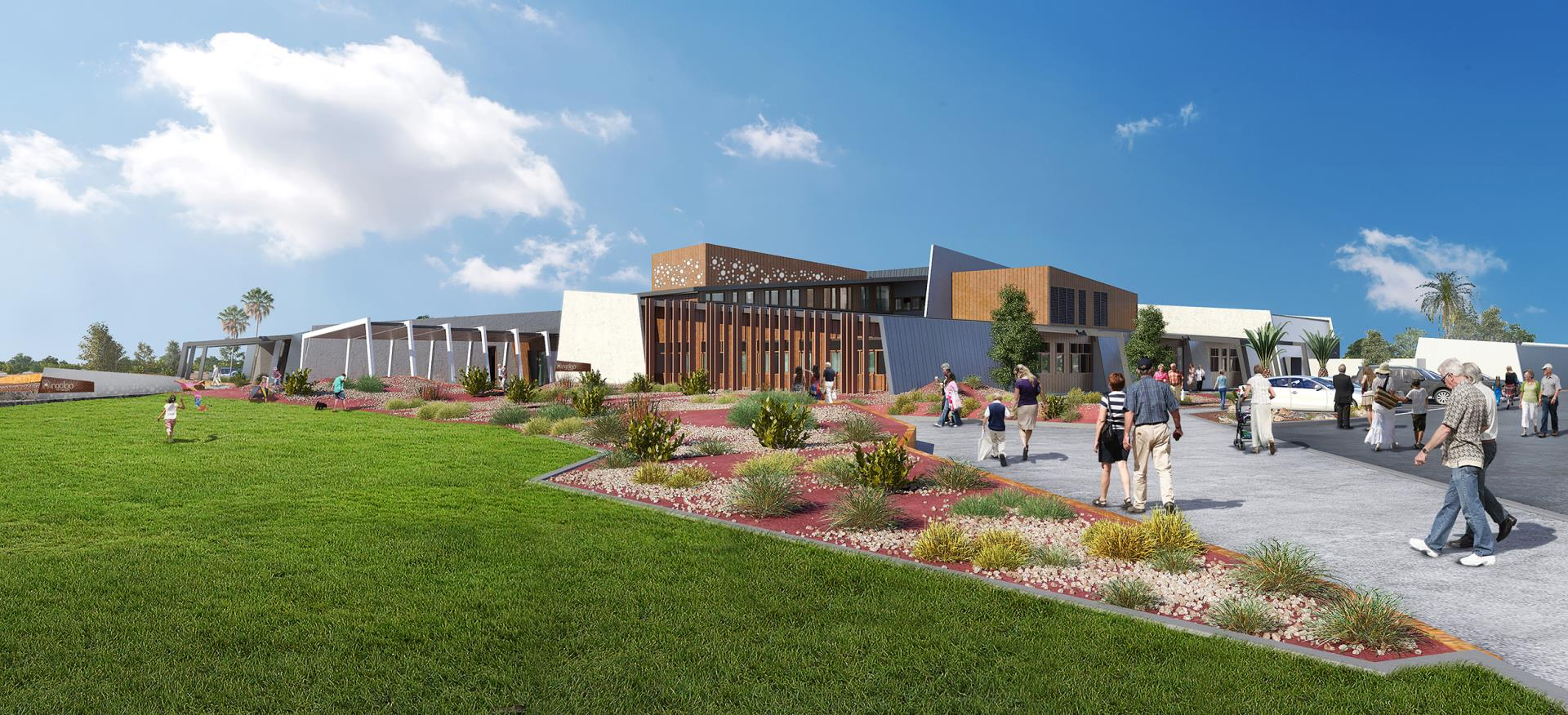 Artists impression of the new Ningaloo Centre