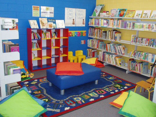 Exmouth Library reading corner