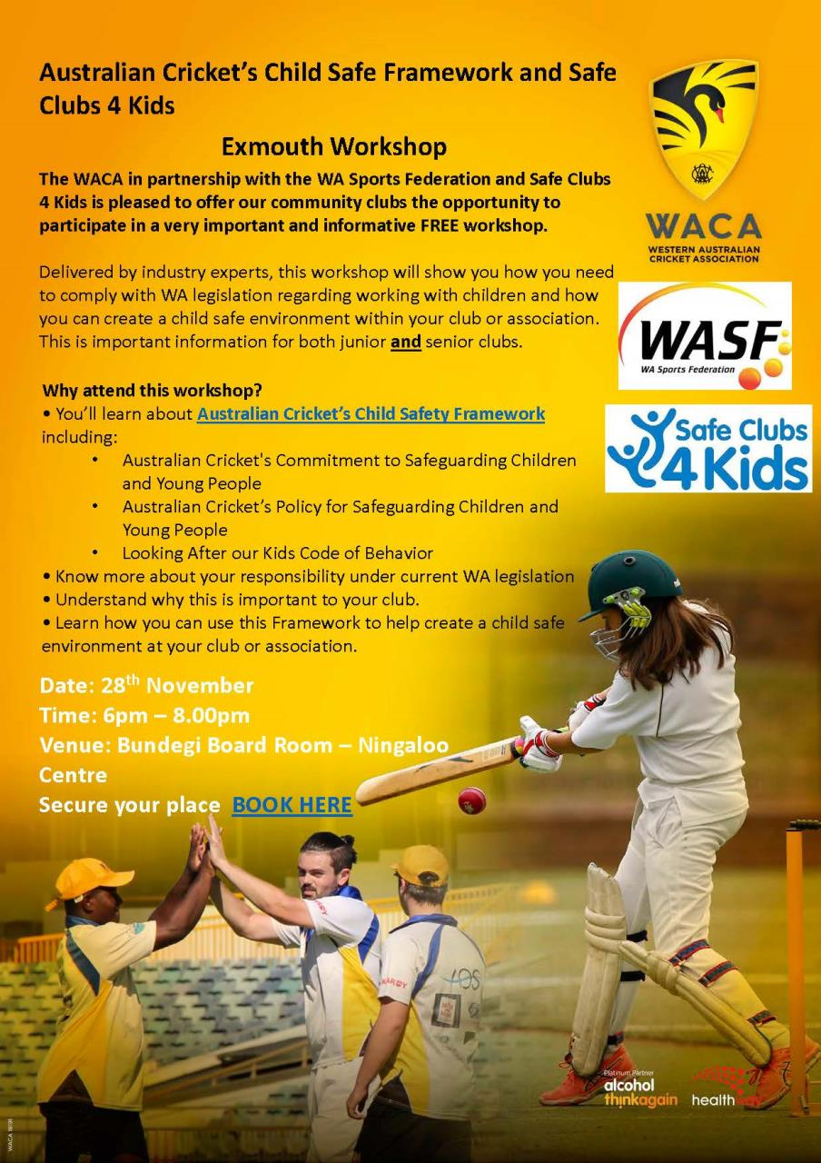Australian Cricket's Child Safe Framework and Safe Clubs 4 Kids
